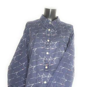 Tommy Jeans All Over Logo Spell Out Button Up